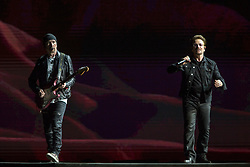 June 4, 2017 - Chicago, Illinois, U.S - THE EDGE and BONO of U2 during 30th Anniversary of the The Joshua Tree Tour at Soldier Field in Chicago, Illinois (Credit Image: © Daniel DeSlover via ZUMA Wire)