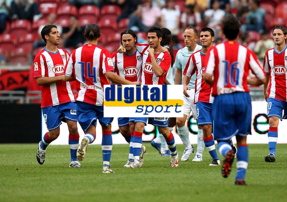 Photo: Maarten Straetemans.<br /> Lazio v Athletico Madrid. LG Amsterdam Tournament. 04/08/2007.<br /> Luis Garcia scored the 0-2 for Atletico