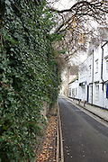 View down Brewer Street towards St Aldates next to old city walls