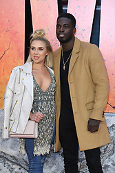Gabby Allen (left) and Marcel Somerville attending the European premiere of Rampage, held at the Cineworld in Leicester Square, London. Photo credit should read: Doug Peters/EMPICS Entertainment