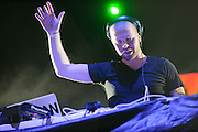 Progressive house producer Morgan Page performing at the first annual Pulse Festival in St. Louis on June 9, 2012.