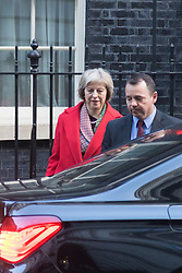 Downing Street, London, February 2nd 2016. Home Secretary Theresa May gets into her car after attending the weekly Cabinet meeting. ///FOR LICENCING CONTACT: paul@pauldaveycreative.co.uk TEL:+44 (0) 7966 016 296 or +44 (0) 20 8969 6875. ©2015 Paul R Davey. All rights reserved.