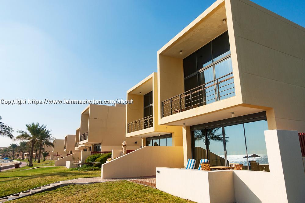 Modern beach front rental villas at Hilton Kuwait resort,Kuwait,  Middle East