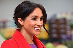 The Duchess of Sussex arrives to officially open Number 7, a 'Feeding Birkenhead' citizens supermarket and community cafe, at Princess Pavements, Pyramids Shopping Centre, as part of a visit to Birkenhead.