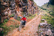 Motorbike rides off beaten track in Ha Giang Province, Vietnam, Southeast Asia
