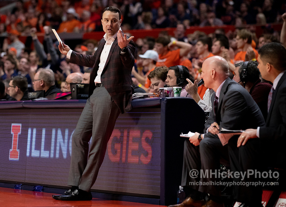 CHAMPAIGN, IL - MARCH 01: Head coach Archie Miller of the Indiana Hoosiers reacts during the second half against the Illinois Fighting Illini at State Farm Center on March 1, 2020 in Champaign, Illinois. (Photo by Michael Hickey/Getty Images) *** Local Caption *** Archie Miller