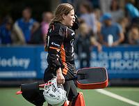 UTRECHT - HOCKEY -  keeper Larissa Meijer (Oranje-Rood)  tijdens  de hoofdklasse hockeywedstrijd dames Kampong-Oranje-Rood (0-5) .COPYRIGHT KOEN SUYK