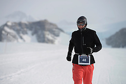 © Licensed to London News Pictures. Union Glacier, Antarctica. PETR VABROUSEK of the Czech Republic at the finish line after winning the 9th edition of the Antarctic Ice Marathon in record time. The Ice Marathon took place at Union Glacier, Antarctica, and is recognised as the world's southernmost marathon and the only official running event within the  Antarctic Circle, taking place just a few hundred miles from the South Pole at the foot of the Ellsworth Mountains. Temperatures were an ice cool -21C when the event got underway at 13:10 GMT on Wednesday 20 November. A total of 56 athletes from 21 countries took part in the ninth edition of the event, which is an essential race for marathon runners seeking to join the Seven Continents Marathon Club. Photo credit: Mike King/LNP