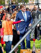 Koningsdag 2018 in Groningen / Kingsday 2018 in Groningen.<br /> <br /> Op de foto:  Koning Willem-Alexander  ///  King Willem-Alexander