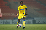 Darnell Johnson of AFC Wimbledon  during the EFL Sky Bet League 1 match between Doncaster Rovers and AFC Wimbledon at the Keepmoat Stadium, Doncaster, England on 26 January 2021.