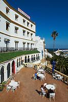 Maroc, Tanger, hôtel Continental construit en 1870 // Morocco, Tangier (Tanger), Continental hotel built on 1870, old city, Medina