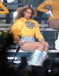 INDIO, CA - APRIL 14:  Beyonce performs at the 2018 Coachella Valley Music And Arts Festival at Indio Polo Grounds on April 14, 2018 in Indio, California. (Photo by Frank Micelotta/PictureGroup/Sipa USA)