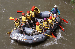 Rafting in the Pyrenees,