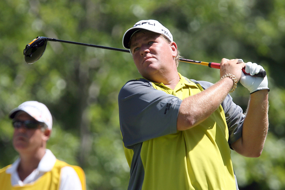 10 August 2007: John Daly drives off the 13th tee during the second round of the 89th PGA Championship at Southern Hills Country Club in Tulsa, OK.