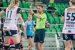 Referee seen during handball match between RK Krim Mercator (SLO) and Vipers Kristiansand (NOR), on September 12, 2020 in Arena Stožice, Ljubljana, Slovenia. Photo by Sinisa Kanizaj / Sportida