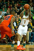 WACO, TX - JANUARY 3: Kenny Chery #1 of the Baylor Bears shoots the ball against the Savannah State Tigers on January 3, 2014 at the Ferrell Center in Waco, Texas.  (Photo by Cooper Neill) *** Local Caption *** Kenny Chery