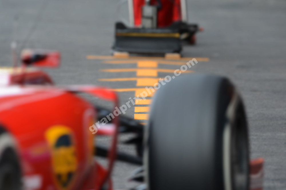 Ferrari pit stop during practice for the 2014 Belgian Grand Prix in Spa-Francorchamps. Photo: Grand Prix Photo