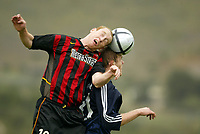 Fotball, mars 2004, La Manga,   Hannes Sigurdsson, Viking og Tim Regan, Metrostars
