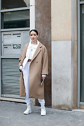 Street style, Alex Closet arriving at Altuzarra Fall-Winter 2018-2019 show held at La Coupole, in Paris, France, on March 3rd, 2018. Photo by Marie-Paola Bertrand-Hillion/ABACAPRESS.COM