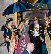 Koningspaar biedt Corps Diplomatique diner aan in het Paleis op de dam /// Royal Couple offers Corps Diplomatique dinner in the Palace on the dam<br /> <br /> Op de foto / On the photo:  Koning Willem-Alexander en Koningin Maxima