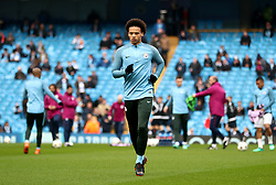 Manchester City's Leroy Sane during warm-up before the UEFA Champions League, Quarter Final at the Etihad Stadium, Manchester.