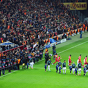 Galatasaray's and Real Madrid's players during their UEFA Champions League Quarter-finals, Second leg match Galatasaray between Real Madrid at the TT Arena AliSamiYen Spor Kompleksi in Istanbul, Turkey on Tuesday 09 April 2013. Photo by Aykut AKICI/TURKPIX