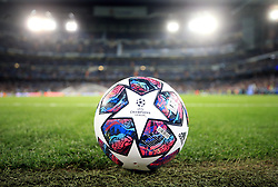 File photo dated 26-02-2020 of a Champions League match ball Europe's clubs are set to have a much bigger say in commercial deals around the new-look Champions League. European football's governing body announced on Tuesday night it was starting the tender process for a new partner to sell the rights to its men's club competitions for the 2024-27 cycle. Issue date: Tuesday October 12, 2021.