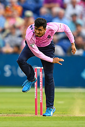 Mujeeb ur Rahman of Middlesex in action<br /> <br /> Photographer Craig Thomas/Replay Images<br /> <br /> Vitality Blast T20 - Round 4 - Glamorgan v Middlesex - Friday 26th July 2019 - Sophia Gardens - Cardiff<br /> <br /> World Copyright © Replay Images . All rights reserved. info@replayimages.co.uk - http://replayimages.co.uk