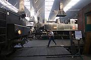 "Strasshof, Austria.<br /> Opening of the season at Das Heizhaus - Eisenbahnmuseum Strasshof, Lower Austria's newly designated competence center for railway museum activities.<br /> L: ÖBB 52.100 (Austrian State Railways) from 1943 - the locomotive ""that rebuilt Europe"" after WW2.<br /> M: kkStB 3033.4027 (Austrian Imperial Railways) from 1897."