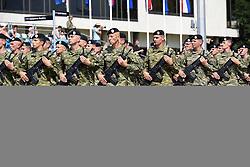 01.08.2015, Zagreb, CRO, Generalprobe zur Militärparade in Zagreb, Anlässlich des 20. Jahrestages des Militäroperation Sturm, im Bild Übersicht auf die Parada // during Rehearsal of Ceremonial military parade on the occasion of the 20th anniversary of the military operation Storm. Zagreb, Croatia on 2015/08/01. EXPA Pictures © 2015, PhotoCredit: EXPA/ Pixsell/ Davor Visnjic<br /> <br /> *****ATTENTION - for AUT, SLO, SUI, SWE, ITA, FRA only*****
