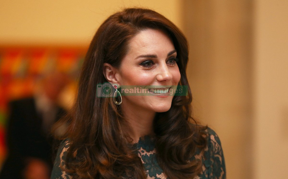 """Kensington Palace releases a photo on Twitter with the following caption: """"""""The Duchess, Patron @NHM_London, will open the new Hintze Hall on 13 July featuring the new star display – a diving blue whale skeleton"""""""". Photo Credit: Twitter *** No USA Distribution *** For Editorial Use Only *** Not to be Published in Books or Photo Books ***  Please note: Fees charged by the agency are for the agency's services only, and do not, nor are they intended to, convey to the user any ownership of Copyright or License in the material. The agency does not claim any ownership including but not limited to Copyright or License in the attached material. By publishing this material you expressly agree to indemnify and to hold the agency and its directors, shareholders and employees harmless from any loss, claims, damages, demands, expenses (including legal fees), or any causes of action or allegation against the agency arising out of or connected in any way with publication of the material."""