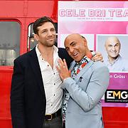 Alex Reid and Simon Gross attend Celeb Bri Tea, on board the BB Bakery bus on 22 March 2019, London, UK.