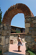 Sozopol, Bulgaria..A girl poses for a photograph in the 6,000 year old town of Sozopol, which is visited by thousands of tourists every year