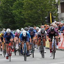 EEKLO (BEL) July 8 CYCLING: <br /> 1th Stage Baloise Belgium tour <br /> Peloton sprint sith Lonneke Uneken, Anna Henderson