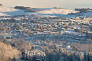 Winter view of Selkirk in the Scottish Borders.