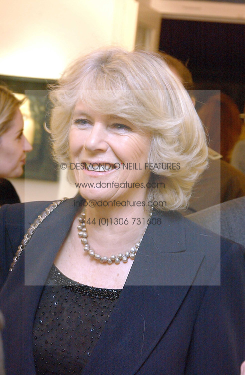 HRH the DUCHESS OF CORNWALL at an exhibition of artist Jonathan Yeo's portrait paintings held at Eleven, 11 Eccleston Street, London SW1 on 16th February 2006.<br /><br />NON EXCLUSIVE - WORLD RIGHTS