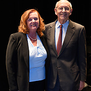 US Supreme Court Justice Stephen Breyer during the backstage book signing after speaking at a Writers on a New England Stage show at The Music Hall in Portsmouth, NH