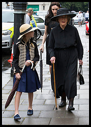 June 27, 2017 - London, London, United Kingdom - Image licensed to i-Images Picture Agency. 27/06/2017. London, United Kingdom. Countess Mountbatten's sister, Lady Pamela Hicks (right) arriving at the funeral of Countess Mountbatten of Burma at  St.Paul's church in Knightsbridge, London. Picture by Stephen Lock / i-Images (Credit Image: © Stephen Lock/i-Images via ZUMA Press)