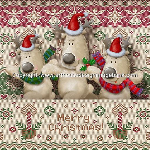 打印 Christmas napkin designs