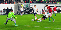 Fotball EM playoff 2015  15.11.2015 <br /> Hungary vs Norway<br /> <br /> Resultat <br /> <br /> Hungary keeper Gabor Kiraly<br /> <br /> Norway Marcus pedersen med 100% sjanse<br /> <br /> <br /> Foto: Robert Christensen Digitalsport