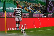 Pedro Porro for the corner kick during the Liga NOS match between Sporting Lisbon and Belenenses SAD at Estadio Jose Alvalade, Lisbon, Portugal on 21 April 2021.