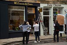 Stockbridge shops getting busier, Edinburgh, 23 July 2020