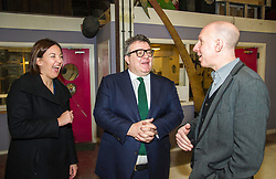 Pictured: Alex McGowan, Executive Director of the Lyecum, Kezia Dugdale and Tom Watson<br /> Scottish Labour leader Kezia Dugdale, MSP,  and Tom Watson, MP deputy leader of the Labour Party, visited Edinburgh's Royal Lyceum Theatre today.<br /> <br /> Ger Harley   EEm 27 March 2017
