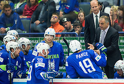 Matjaz Kopitar, head coach Slovenia talks to players during Ice Hockey match between Slovenia and USA at Day 10 in Group B of 2015 IIHF World Championship, on May 10, 2015 in CEZ Arena, Ostrava, Czech Republic. Photo by Vid Ponikvar / Sportida