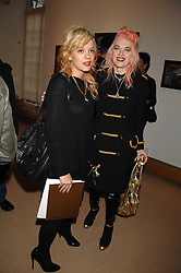 Left to right, LILY ALLEN and PAM HOGG at a private view of Paul Simonon's recent paintings held at Thomas Williams Fine Art, 22 Old Bond Street, London on 15th April 2008.<br />
