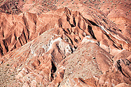 Mountain with red rocks in the Ounila Valley.