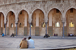 Couples meet at the Hassan II Mosque in Casablanca, Morocco on May 13, 2009. The mosque, which was completed in 1993, is the largest in Africa.