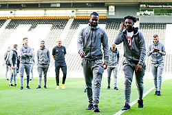 Kasey Palmer of Bristol City and Antoine Semenyo of Bristol City arrive at Pride Park for the Sky Bet Championship fixture against Derby County  - Mandatory by-line: Robbie Stephenson/JMP - 20/08/2019 - FOOTBALL - Pride Park Stadium - Derby, England - Derby County v Bristol City - Sky Bet Championship