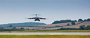 RAF C17 Globemaster air transport troop and cargo plane at RAF  Brize Norton Air Base  in Oxfordshire, UK