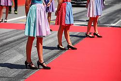 July 1, 2018 - Spielberg, Austria - Motorsports: FIA Formula One World Championship 2018, Grand Prix of Austria, .Grid girls  (Credit Image: © Hoch Zwei via ZUMA Wire)
